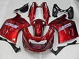 WONYAN Motocicleta Piezas Kit carenado personalizado for Kawasaki Ninja ZZR1100 93 99 00 01 03 ZZR 1100 1993 2001 2003 ABS Red Hot Set de carenados + regalos KA27