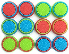 Pack of 12pcs J&H Thumb Grip Thumbstick Noctilucent Sets for PS2, PS3, PS4, Xbox 360, Xbox One Controller [video game acce...