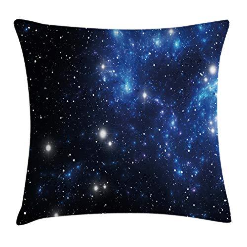 Fundas para Cojines Nebulosa de la Estrella Exterior Cúmulo Astral Tema de astronomía Misterio de Galaxias Funda de cojín con impresión clásica de algodón Suave poliéster 45*45cm
