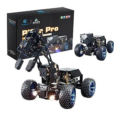 Gewbot PiCar-Pro 2 in 1 Smart Robot Car Kit with 4-DOF Robot Arm Electronic DIY Robotics Kit for Teens Adults STEM Robot…