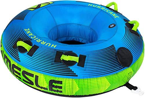 MESLE Tube Hurricane 58'', 1-2 Personen, Towable Donut Fun-Tube, aufblasbarer Schlepp-Reifen zum Ziehen, für Kinder & Erwachsene, Inflatable Wasser-Sport Schlepp-Ring, für Motor-Boot & Jet-Ski