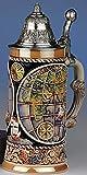 Tradicional-Jarra de cerveza Allemand-Globe Jarra 4 elementos, que giran en torno a la base, la tapa...