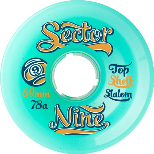 Sector 9 Top Shelf Nine Balls Skateboard Wheel, Green, 69mm 78A