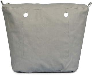 Sundey Lona SóLida Impermeable Inserto Forro Interior Inserto Bolsillo con Cremallera para Obag o Bag Bolso de Mano Negro