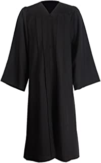 Unisex Premium Matte Gown for Graduation Choir Judge Halloween Costumes12 Colors Avaliable