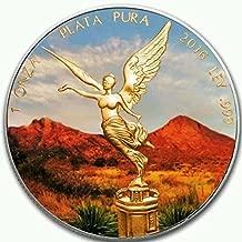 MEXICO LIBERTAD 2016 1 Oz SILVER COLOR MINTAGE 100 PCS WITH BOX & COA v1..LAST PIECES..