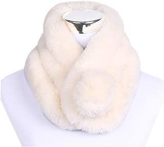 Hixiaohe Women's Faux Fur Scarf Wrap Collar Shrug Winter Warm Neck Wrap Shawl