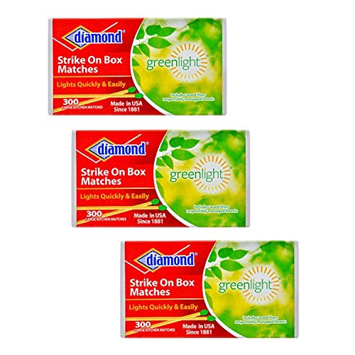 Diamond Strike on Box Greenlight Matches, 300 Count (Pack of 3)
