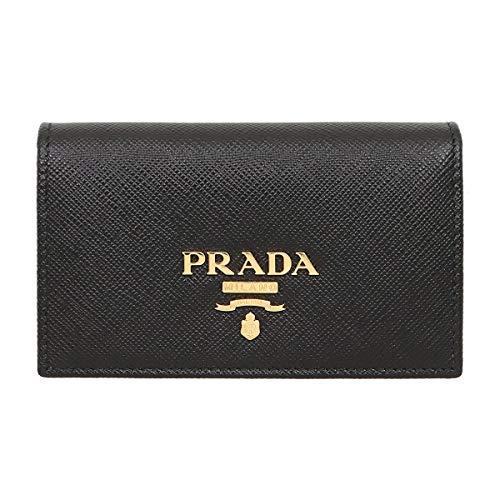 [プラダ] PRADA 小物(カードケース) 1MC122 QWA ネロ サフィアーノ レザー メタル レタリング ロゴ カードケース レディース [ブランド] [並行輸入品]