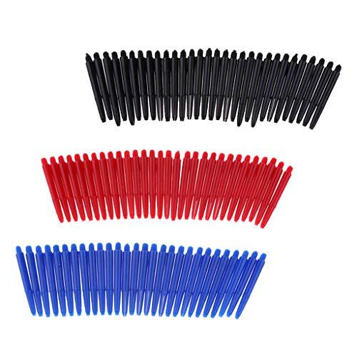 Hellery Alberi per Freccette Filettati in Nylon 90x 2BA Gambo Medio 43 Mm / 1,7'Blu, Rosso E Nero