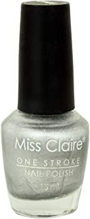 Miss Claire Miss Claire 15ml Crack Nail Polish Crack Silver, Silver, 15 Milliliters, Beige, 15 ml