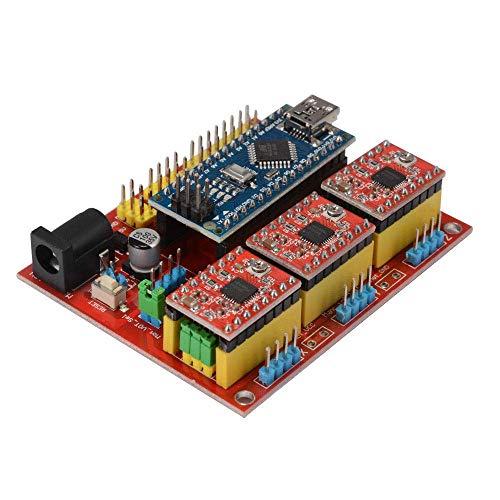 Brightz CNC Shield V4 Expansion Board 3.0 Stepper A4988 Driver for 3D Printer TE732