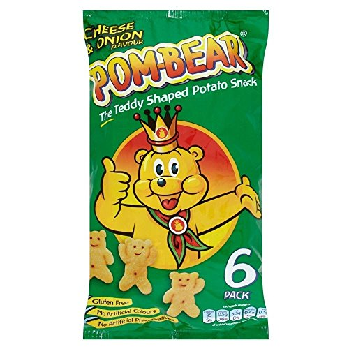 Pom-Bär Potato Snacks - Cheese & Onion (6x19g) - Packung mit 2