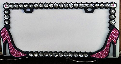 Swarovski High Heel Shoes License Plate -  judys jewelz