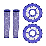 Lemige 2 Pack Post-Motor Filters & 2 Pack Pre-Motor Filters Replacement Parts for Dyson DC40 Animal, Multi Floor, Origin and Total Clean Vacuums, Compare to Part 923587-02 & 922676-01