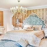 Casa Padrino Cama Doble Barroco Verde/Crema/Cobre 230 x 200 x A. 220 cm - Cama Noble de Madera Maciza con cabecera - Magnífica Muebles de Dormitorio de Estilo Barroco