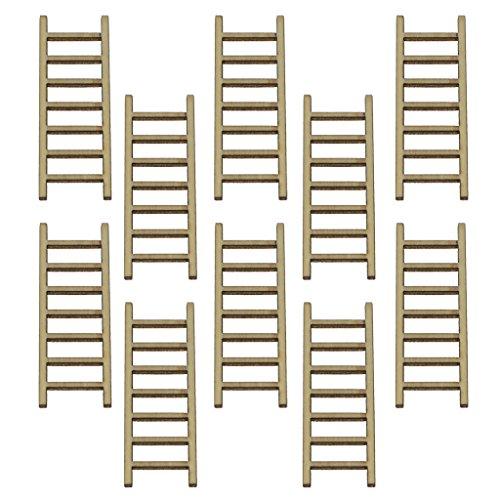 Sharplace Mikro Landschaft Mini Figuren Set - Leitern, 10 Stücke