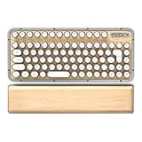 AZIO R.C.K. レトロクラシック・ワイヤレスキーボード メープル MK-RCK-W-02-JP