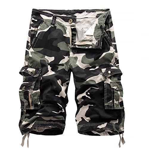 AYG Bermudas Cargo Shorts Hombres Pantalones