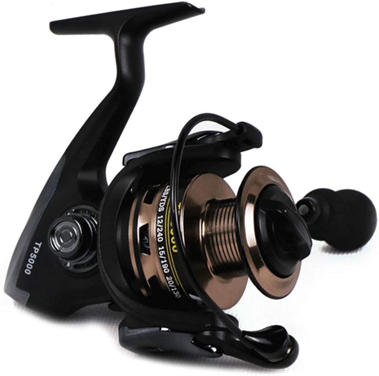 RABILTY Spinning Fishing Reel 14+1 Bearings Left Right Interchangeable Handle for Saltwater Freshwater Fishing with Double Drag Brake System