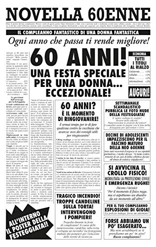 Bombo Biglietto Auguri Giornale Compleanno 60 Anni Amica