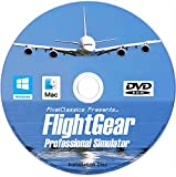 FlightGear Flight Simulator 2020 X Flight Sim Plane & Helicopter Including 600+ Aircraft DVD CD Disc Standard Edition Compatible with Microsoft Windows 10 8.1 8 7 Vista PC & Mac OS