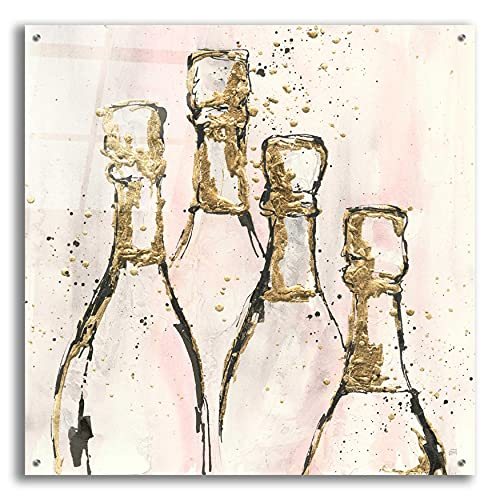 """Epic Art 'Champagne is Grand II' by Chris Paschke, 36""""x36"""""""
