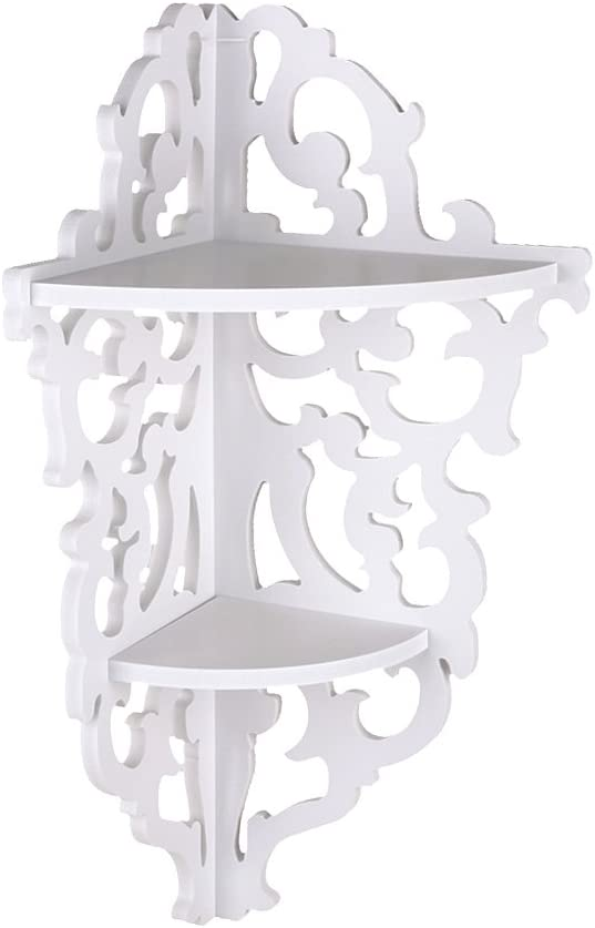 Gojiny 2021 Wall Mounted Floating Shelves Carved Cheap SALE Start Bookc Tier Corner 2