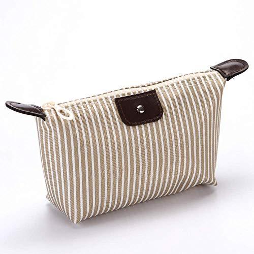 Dumpling Makeup Bag Unisex Striped Oxford Cosmetic Bag Soft Round Portable Korean Version MakeUp Bag Zipper Travel Bags