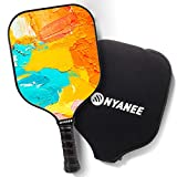 Lightweight Pickleball Paddle with Cover - 8 oz Graphite Pickleball Paddles for Men and Women, Fashionable Pickleball Racquets, Pickleball Rackets with Comfort Cushion Grip