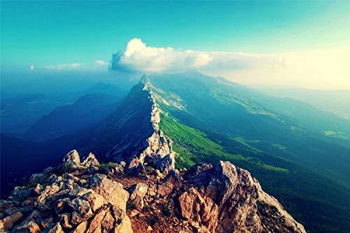 Bordado De Diamantes Decoración De La Boda Del Hogar Ridge Mountains Bordado De Taladro Redondo Punto De Cruz Para La Decoración De La Pared Del Hogar 30X40cm