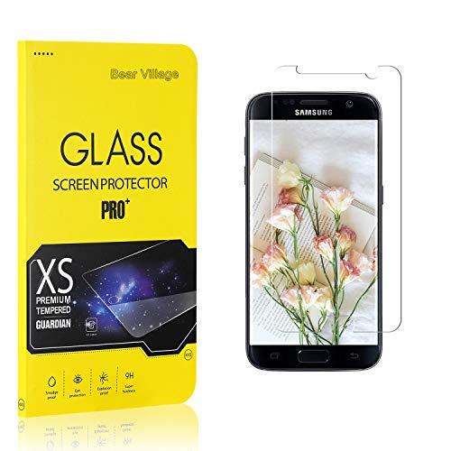 Bear Village Verre Trempé pour Galaxy S7, Film Protection Écran Vitre HD pour Samsung Galaxy S7, Dureté 9H, 3D-Touch, Installation Facile, 4 Pièces