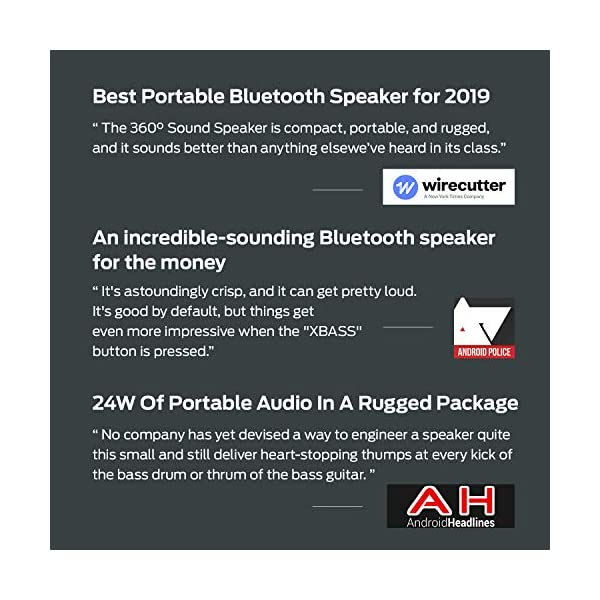 StormBox Bluetooth Speaker - 24W Portable Speaker, 360 Full Surround Sound, Enhanced Bass, Wireless Dual Pairing, IPX7 Waterproof, 20-Hour Playtime, 66ft Bluetooth Range Outdoor Speaker 4