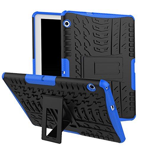 Skytar Funda para Huawei MediaPad T3 10,Hybrid Dura Layer Protección de Policarbonato Duro + TPU Silicona Protección Cover Carcasa para Huawei MediaPad T3 10 de 9,6 Pulgadas Tablet Funda,Azul Marino