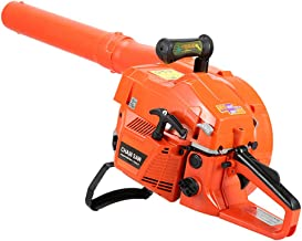 WSNLDY Garden Leaf Blower Vacuum Shredder, 2-Stroke Petrol Engine, Portable Knapsack High Power Snow Blower Thrower