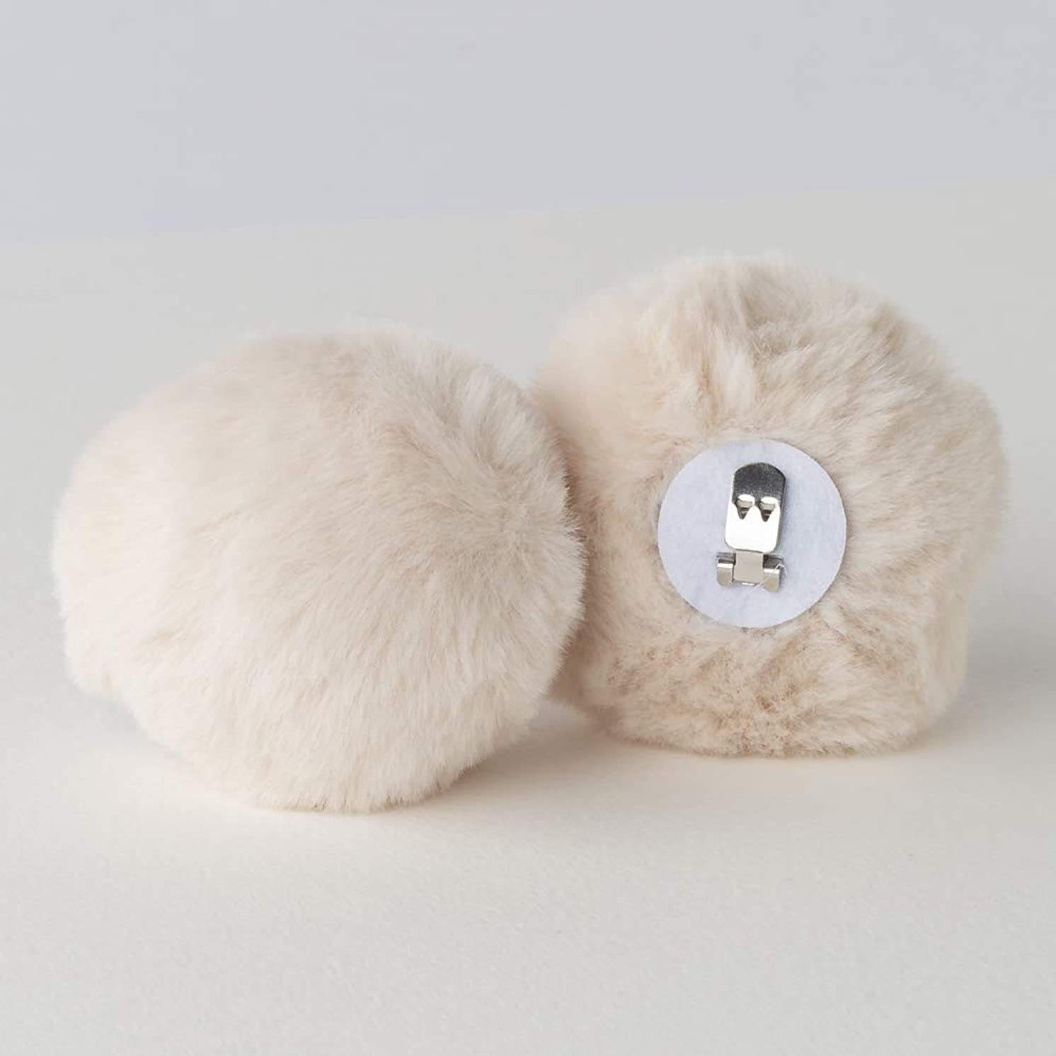 Shoe Clips Removable Fur Pom Poms Set of 2