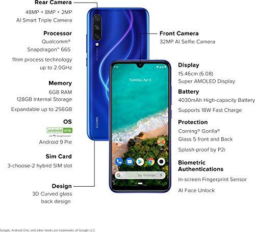 Xiaomi Mi A3 (Not Just Blue, 6GB RAM, 128GB Storage)