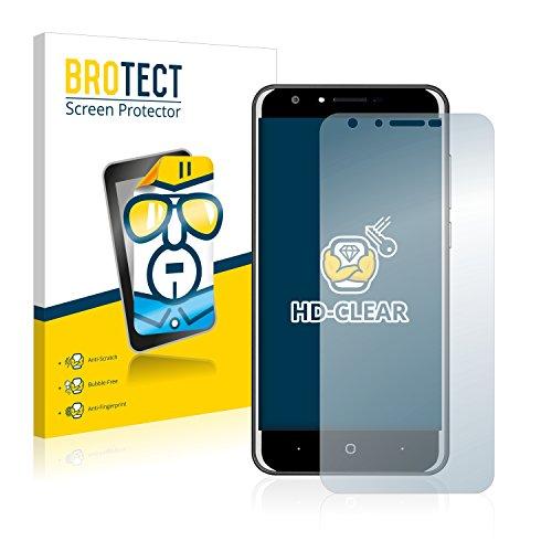BROTECT Schutzfolie kompatibel mit Doogee Y6C (2 Stück) klare Bildschirmschutz-Folie