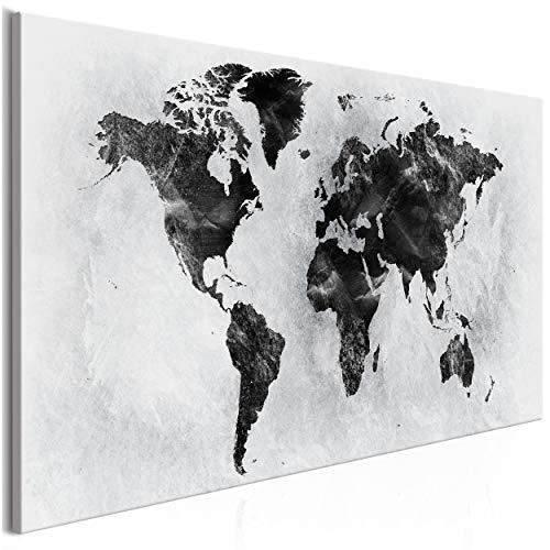 decomonkey Bilder Weltkarte 100x45 cm 1 Teilig Leinwandbilder Bild auf Leinwand Vlies Wandbild Kunstdruck Wanddeko Wand Wohnzimmer Wanddekoration Deko Landkarte Welt Kontinent
