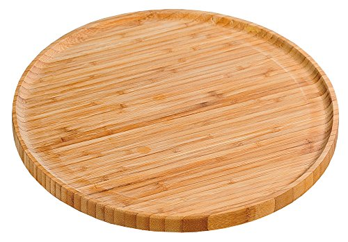 Kesper haushaltswaren 58463 Plato de Servir de Madera de bambú 32 cm D.