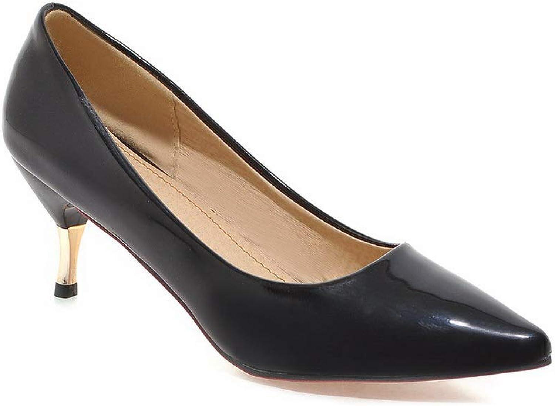 BalaMasa Womens Dance-Ballroom Burnished Dress Urethane Pumps shoes APL10504