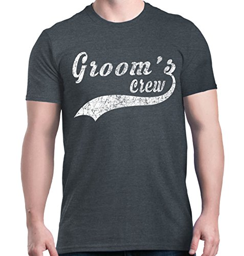 Shop4Ever - Camiseta para novio -  Azul -  Medium