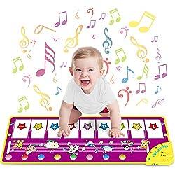 WEARXI Baby Spielzeug Ab 1 2 Jahre Mädchen Junge - Kinderspielzeug Babyspielzeug Lernspielzeug Kleinkind Spielzeug, Tanzmatte, Klaviermatte, Musikmatte, Keyboard Kinder Spielsachen Geschenke Mädchen