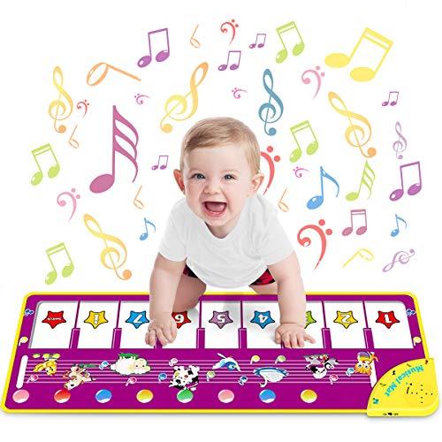 WEARXI Baby Spielzeug Ab 1 2 Jahre Mädchen - Kinderspielzeug Babyspielzeug Lernspielzeug Kleinkind Spielzeug Ab 1 2 Jahre, Tanzmatte, Klaviermatte, Musikmatte, Keyboard Kinder Geschenke Mädchen