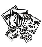 OBEY(オベイ)ステッカー シール(4サイズ26枚セット)Sticker Pack 2 Icon Face Assorted White×Black(ホワイト×ブラック)