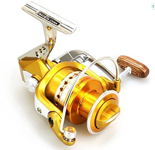 12+1Bb 5.5: 1 Todo Metal Carretes De Spincasting Spinning Carrete Pesca Izquierda Derecha Intercambiable Asa Plegable para La Carpa, De Bajura Y De Agua Salada Cebo