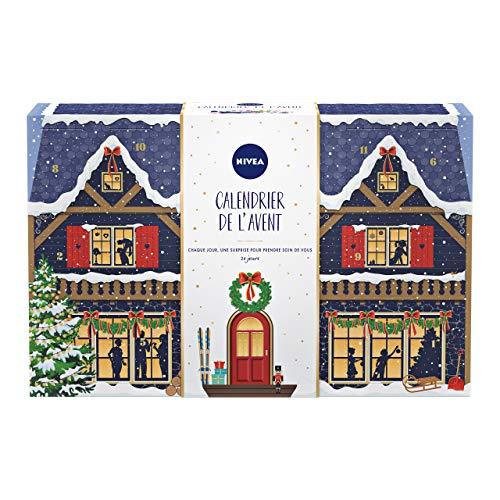 NIVEA Calendrier de l'Avent 2020, coffret NIVEA Pour 24 moments bien-être, calendrier Noël contenant des produits cosmétiques & accessoires beauté