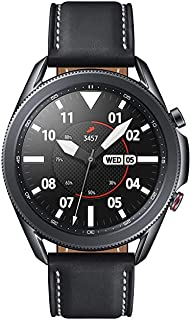 (Renewed) Samsung SM-R840NZKAINS Bluetooth Watch 3- Black, Leather (Wireless)