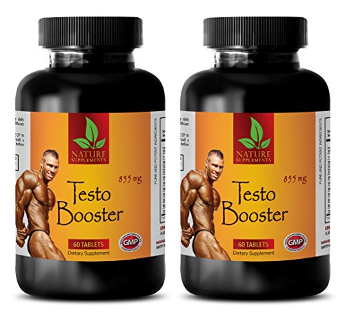 Increase Sexual Performance for Men - TESTO Booster 855mg - Testosterone Booster for Muscle Growth Best Seller - 2 Bottles 120 Capsules