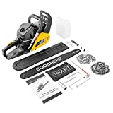 COOCHEER Chainsaw 62CC 20' Powerful Gas Chainsaw 2 Stroke Handed Petrol Chain Saw Woodcutting Saw for Farm, Garden and Ranch with Tool Kit